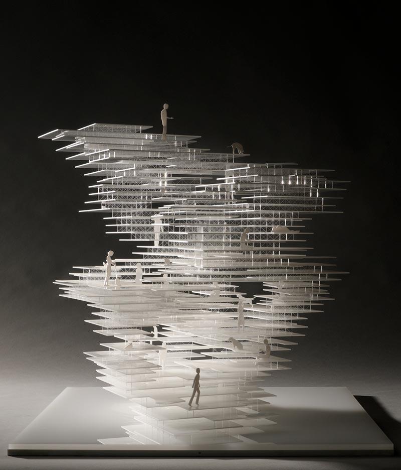 Primitive future house n house fujimoto architects collection frac centre - Comment faire une coupe architecture ...