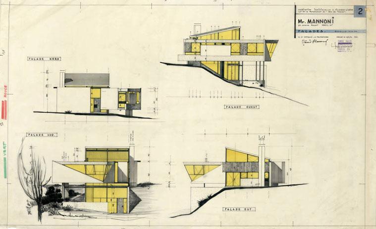 Maison mannoni cr teil parent collection frac centre for Interieur maison 1960