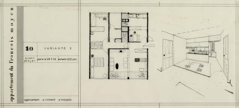 Dessin Tuiles Plan Architecture : Appartement type du français moyen schein collection