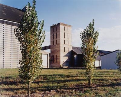 Commande photographique sur les silos à grains de la région Centre