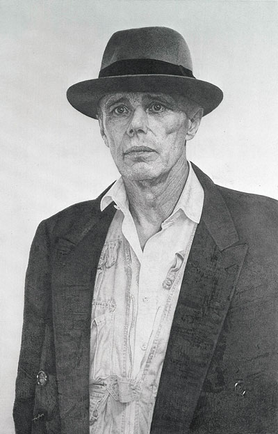 Joseph Beuys d'après la photo d'Alice Springs